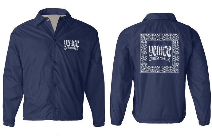 Venice Originals Men's Navy Windbreaker