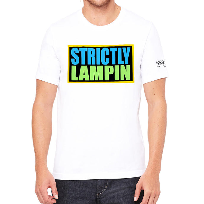 Strictly Lampin Men's White Tee