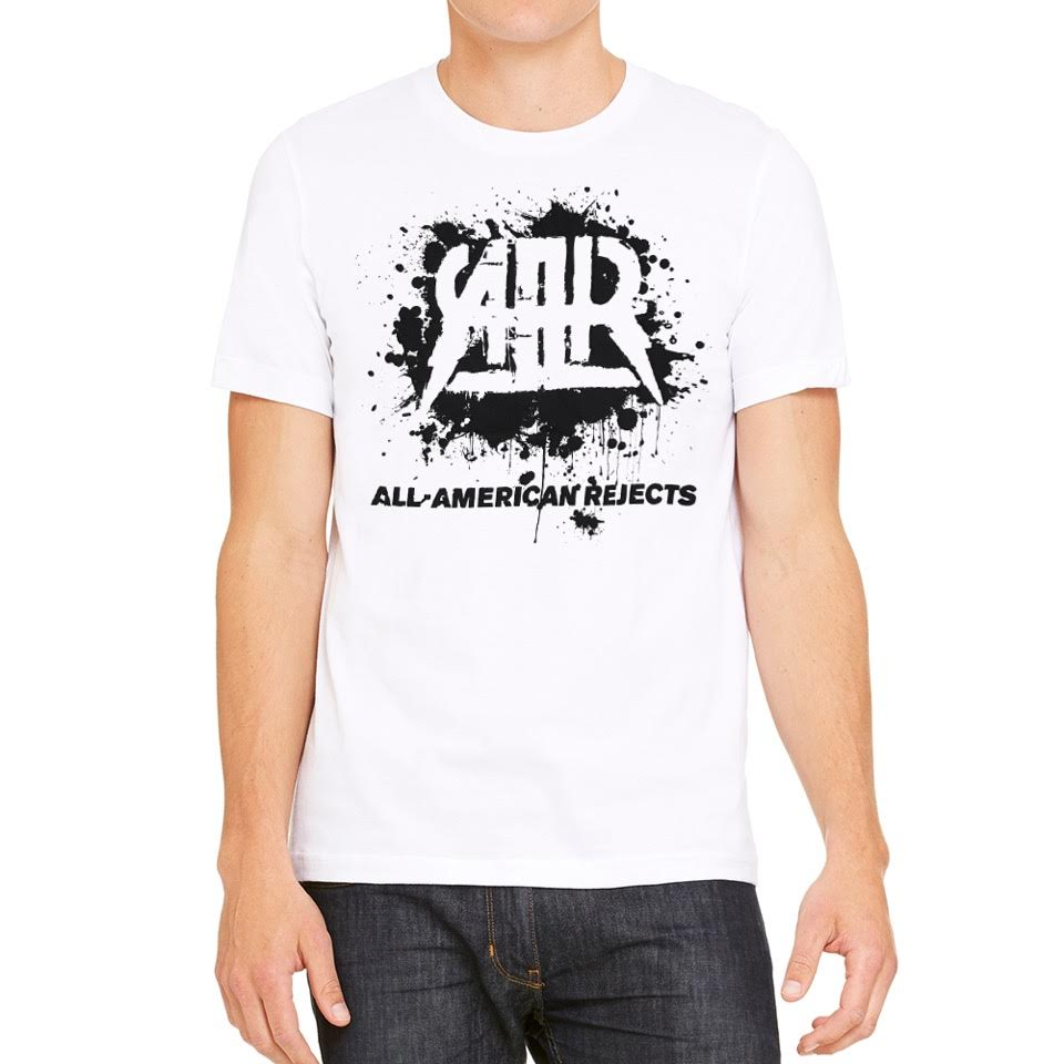 All American Rejects Ink Blot Men's White T-shirt