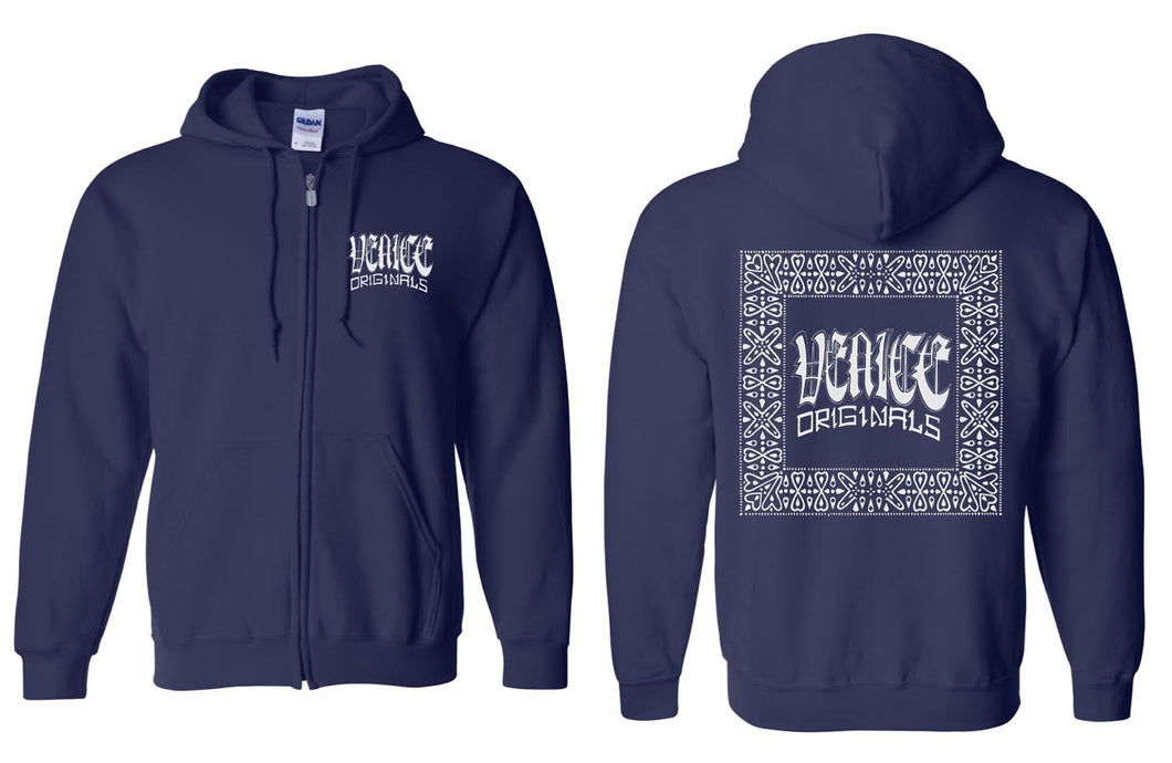 Traditional Navy Zip Hoodie