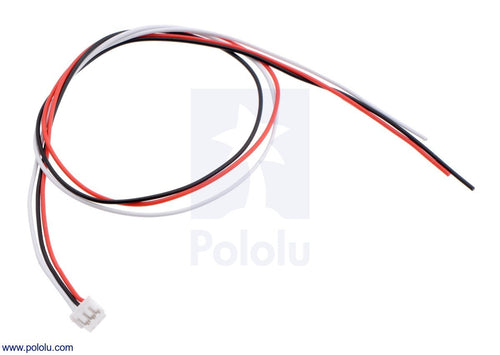 Pololu 3-Pin Female JST ZH-Style Cable (30cm) for Sharp GP2Y0A51 Distance Sensors
