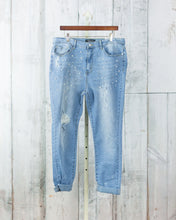 PLUS Distressed Skinny Pearls Jeans