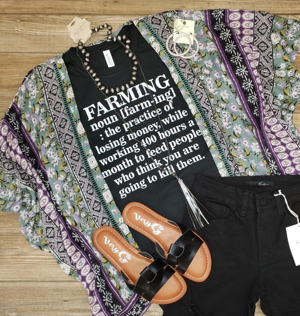 Farming Definition Short Slv Graphic Tee