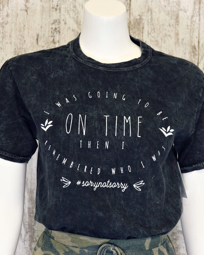 On Time Mineral Washed Tee