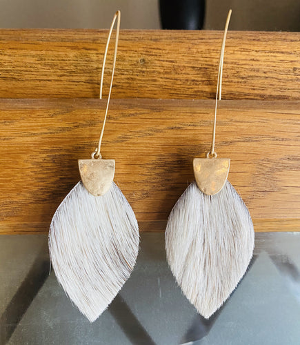 Cowhide Threader Earrings JM7694E
