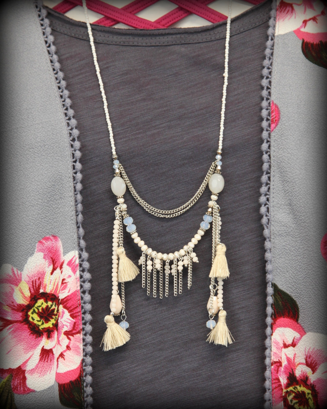 Pearl Tassel Necklace IC297