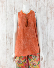 Mineral Wash Twisty Back Knit Tank
