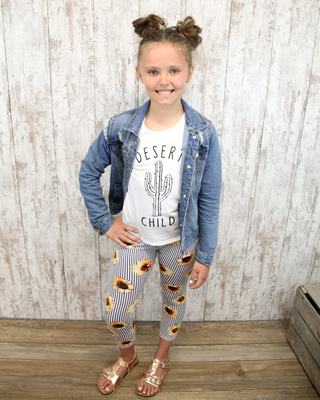 KIDS Sunflower Girls Leggings 294