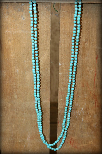 Sm Bead Knotted Necklace 4MM NE77282