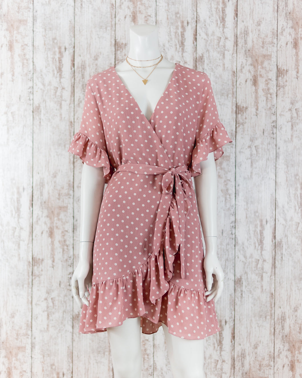 Ruffled Polka Dot Dress