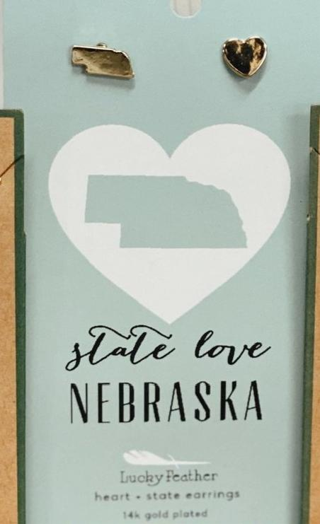 State Love Earrings STE-LV-NEB