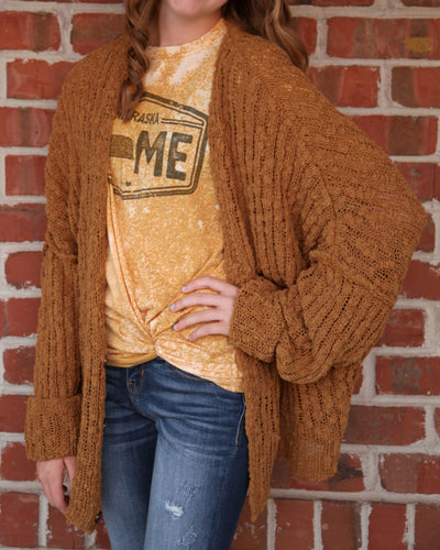 Aurora Loose Woven Chenille Soft Sweater Cardigan BSW12201