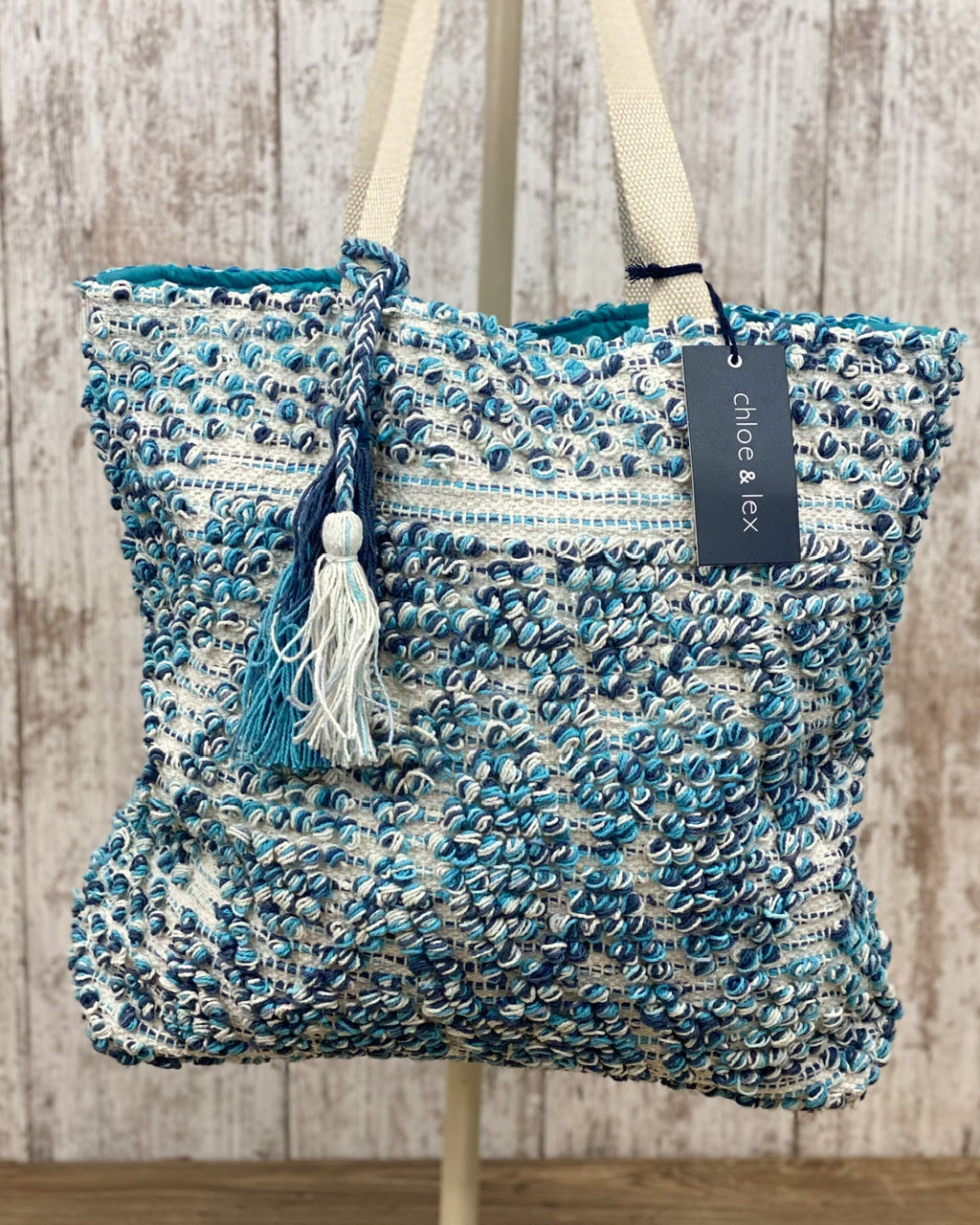 Turquoise Tapestry Tote