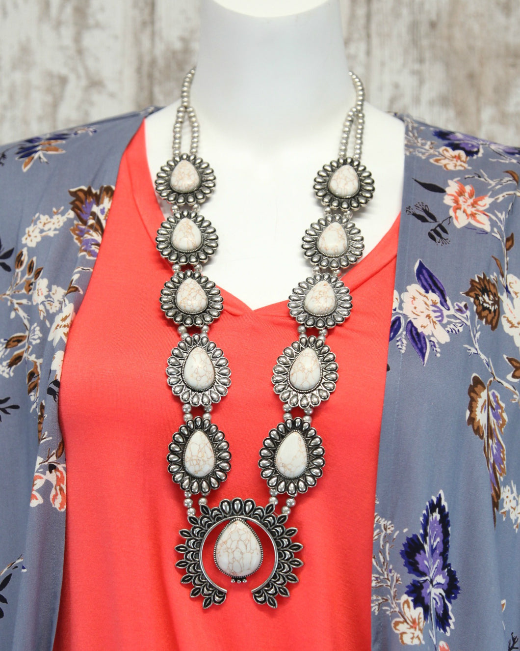 Jonni Squash Blossom Necklace JN30081