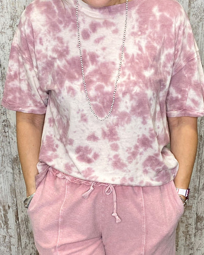 Tie Dye Short Slv Soft Oversized Top