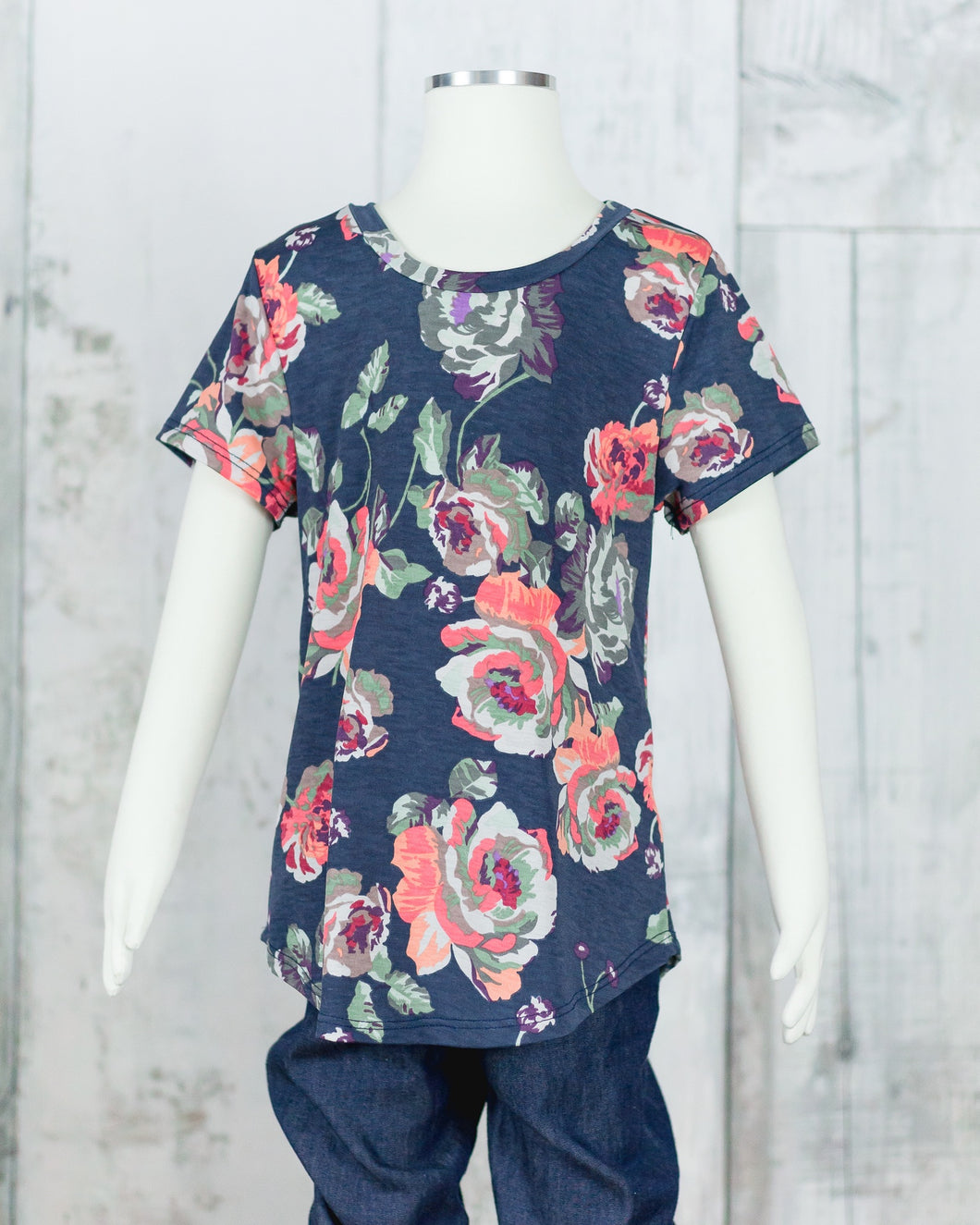 Floral Scoop Neck Top