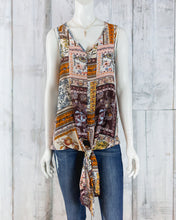 Rust Patterned Tank Top