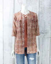 Turq Loretta Plaid Tunic O2