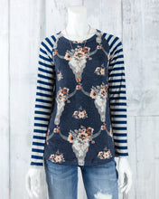 Cow Skull Print French Terry Top
