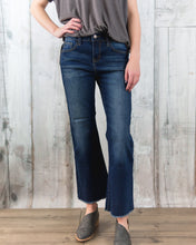 Cropped Flare Raw Hem Jeans