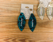 Hoop Leather Feather Earring