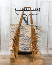 Chloe & Lex Leather Fringes Tote