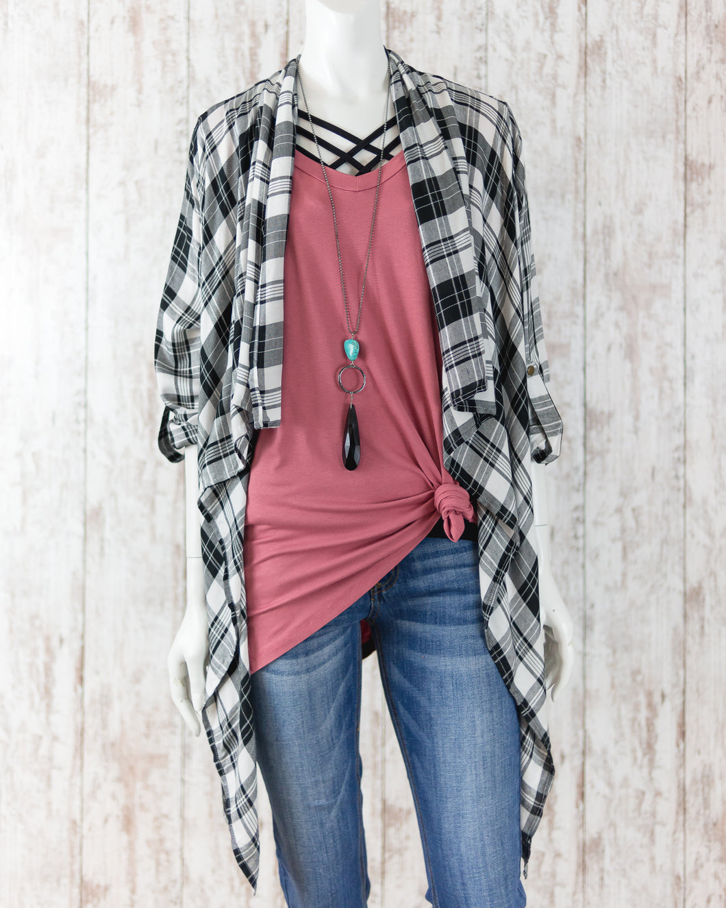 Plaid and Simple Cardigan