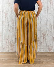 Striped Printed Rayon Pants
