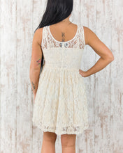 Short Lace Tank Dress