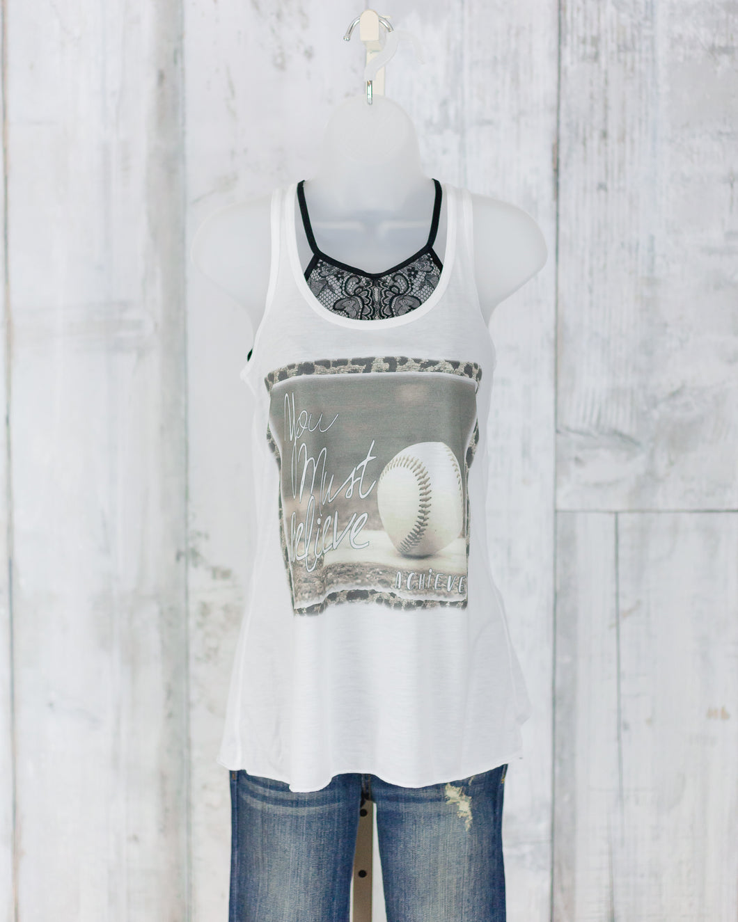 BAG Baseball You Must Believe Flowy Tank B8800