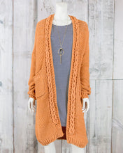 Braid Detailed Knitted Cardigan Sweater