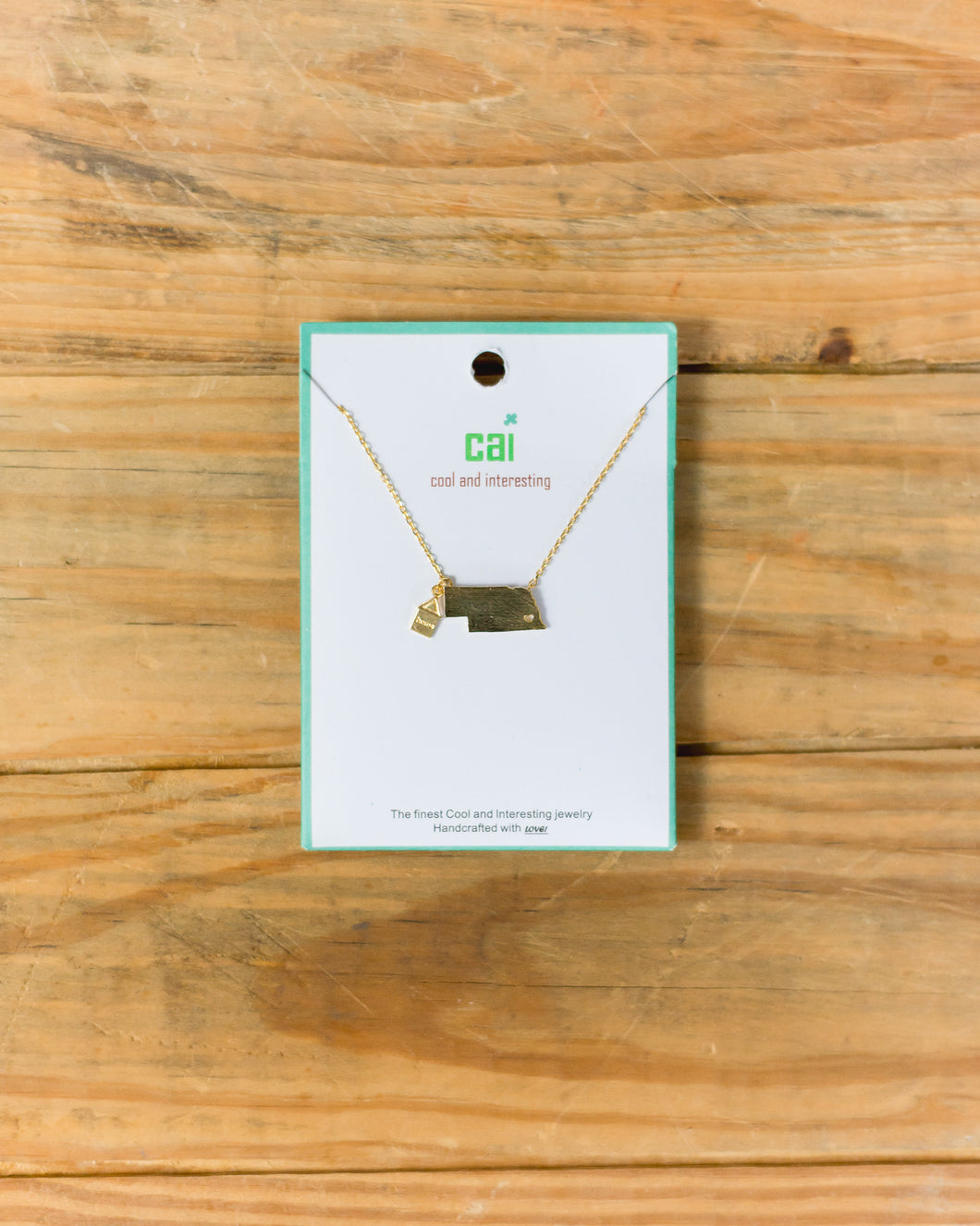 CAI Gold Home State Necklace NE 20178