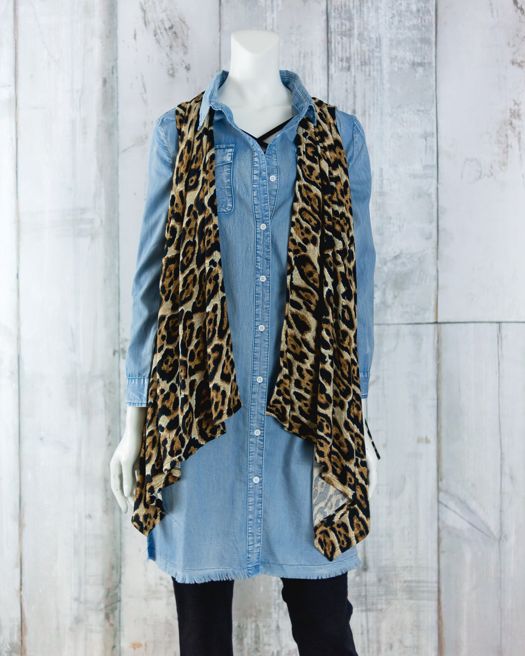 Knit Cheetah Vest