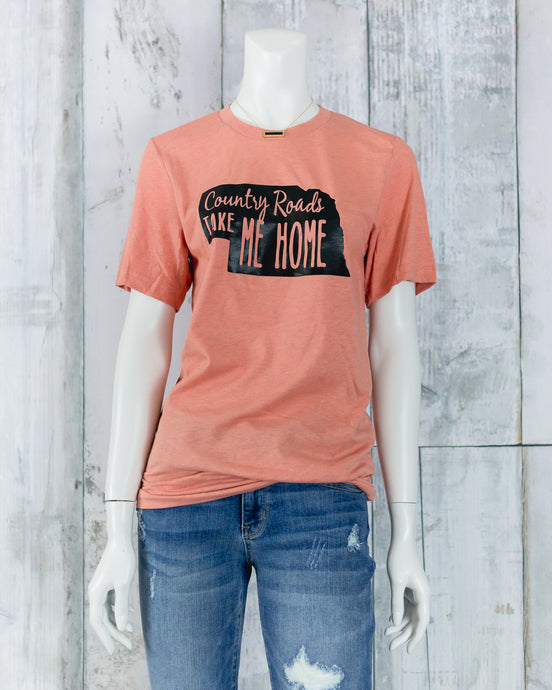 Country Roads Take Me Home Bella Tee