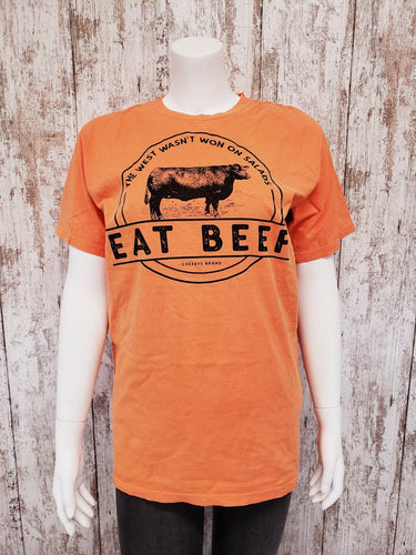 Eat Beef Salad Grey Unisex Tee