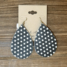 Medium Tear Drop Leather Earring