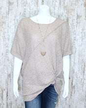Super Soft Angled Striped Oversized Top w Short Dolman Slv 17868