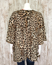 Heavy Knit Animal Print Cardigan 17079G