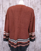 It All Stripes Out Sweater Cardigan w Wide Slv MSJ5