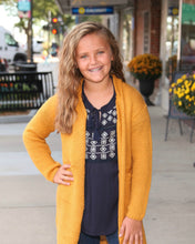 KIDS Distressed Knit Sweater Duster G5854