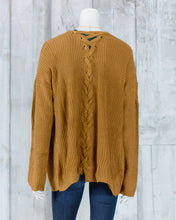 Lace Up Knit Cardigan