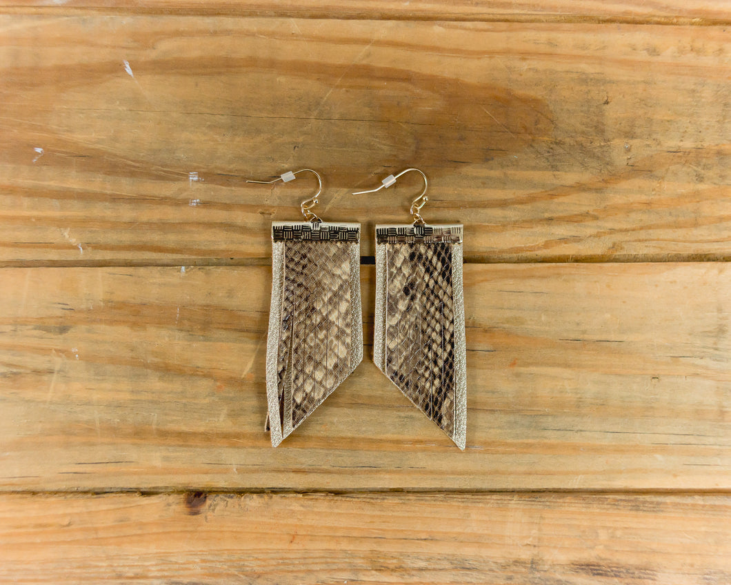 Leather Two Layered Earrings