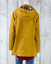 Lightweight Lined Jacket w Lined Plaid Hoodie Detail 8552JS