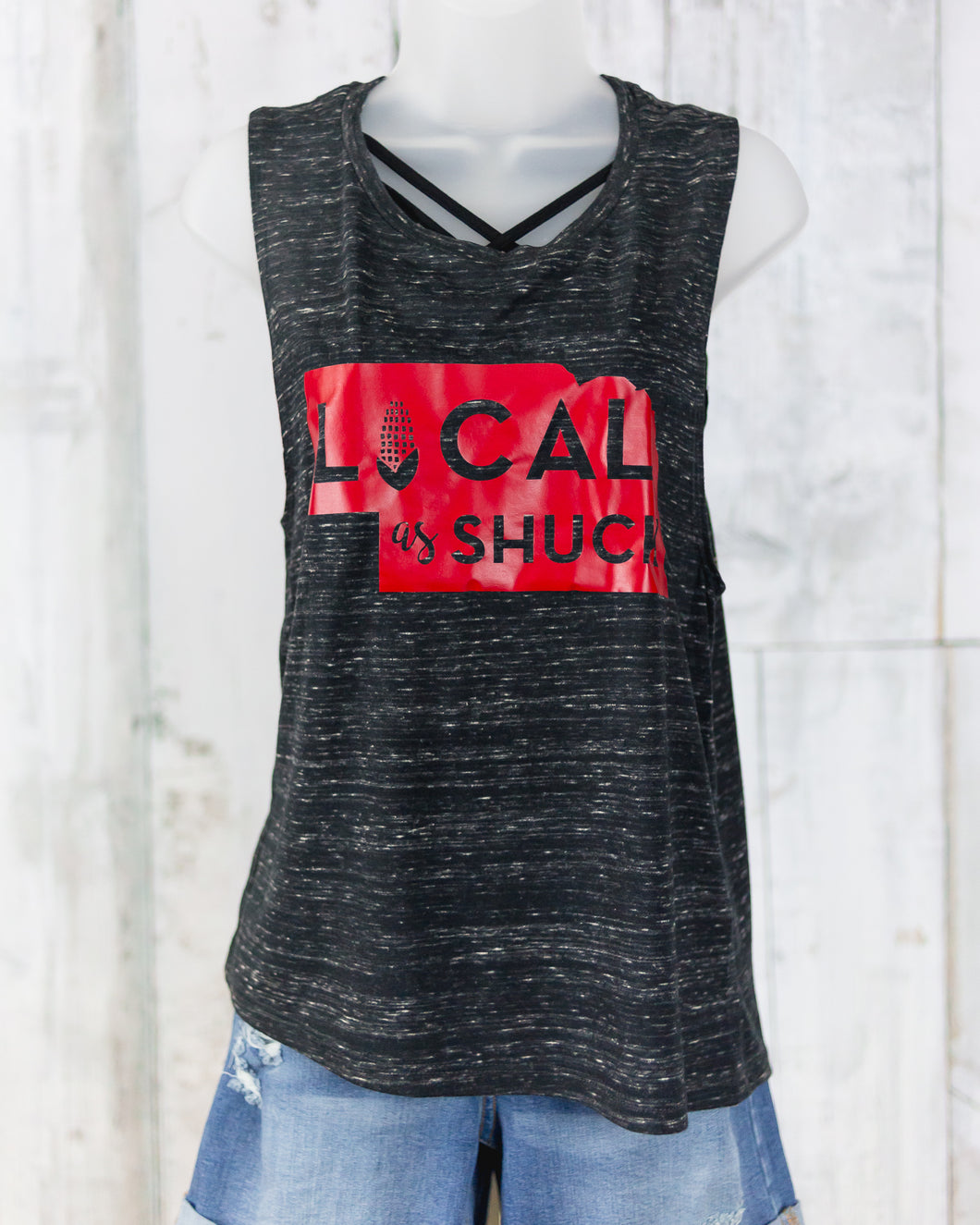 Local as Shuck Graphic Tank