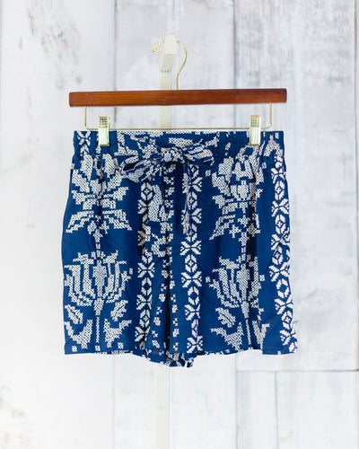 Quilted Print Shorts