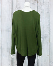 Heather Ribbed Slouchy Knit Top