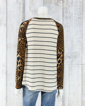 Long Sleeve Cheetah Striped Top