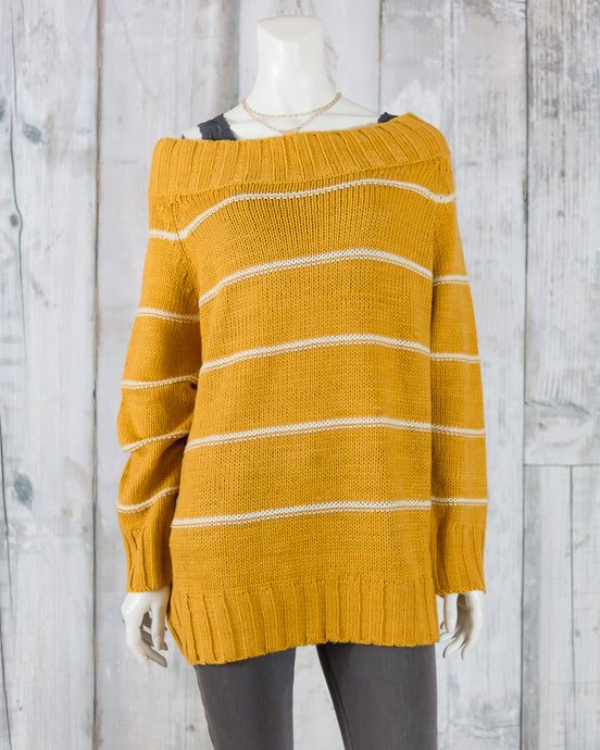 Pin Striped Knitted Sweater