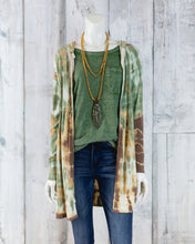 Tie Dye Hooded Tunic Jacket