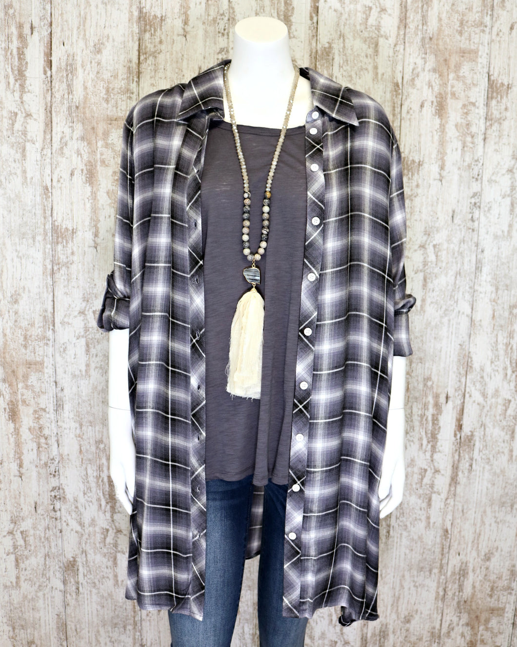 PL Plaid Trapeze Dress DRES4240SM